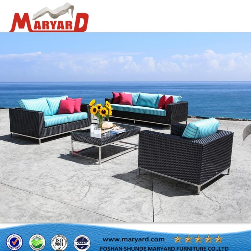Admirable Hot Item High Quality Indoor Rattan Sofa Set Wood Color Patio Rattan Sofa Set Download Free Architecture Designs Embacsunscenecom