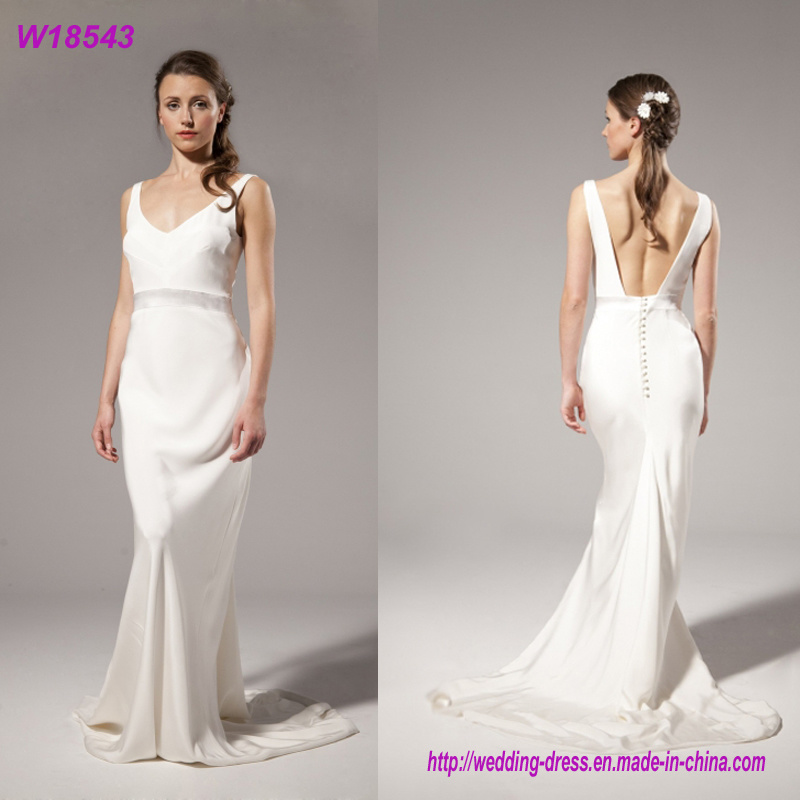 Hot Item 100 Cotton Ladies Brial Long Evening Party Wear Best Ball Gown Wedding Dresses