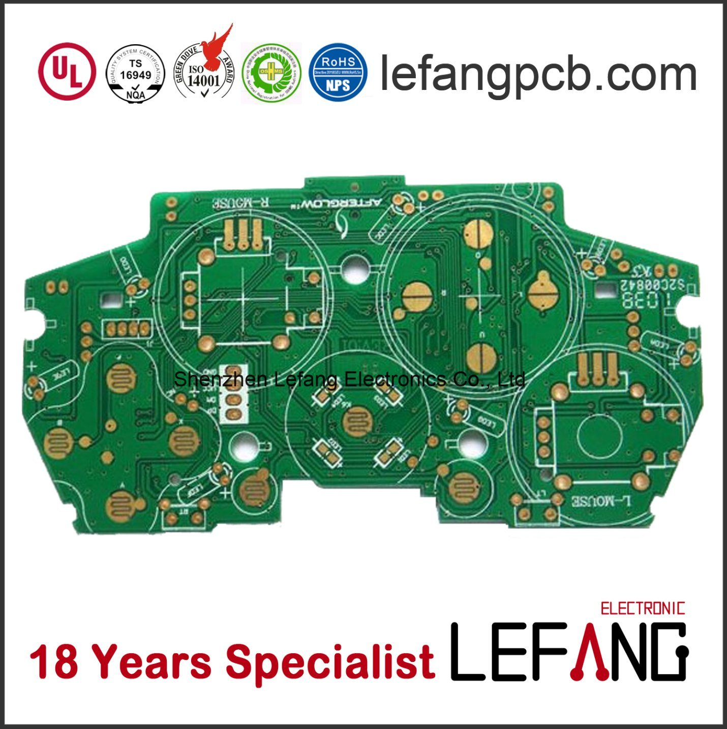 china 1 6mm 4 layer enig pcb printed circuit board photos pictures rh lefangpcb en made in china com