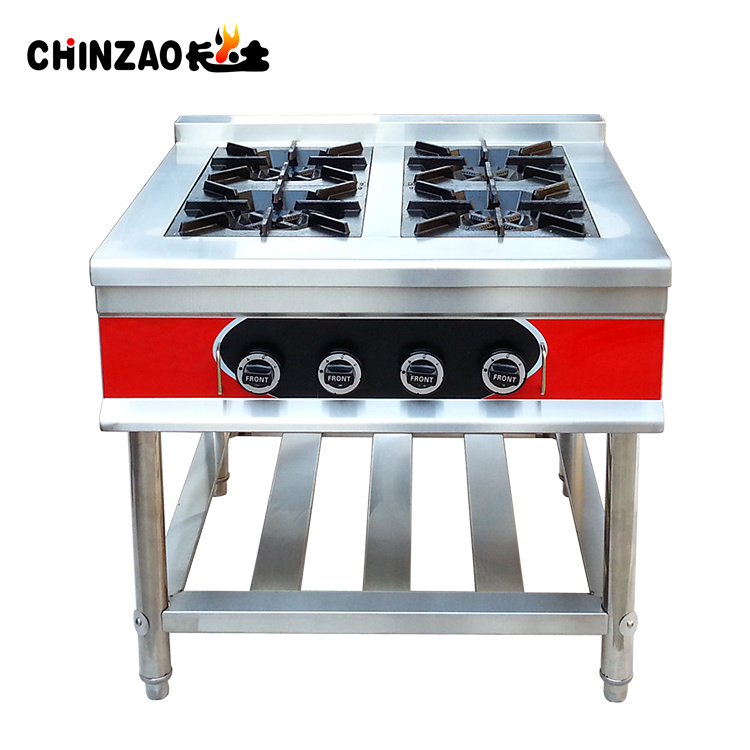 Stainless Steel Commercial Gas Cooker With 4 Burners