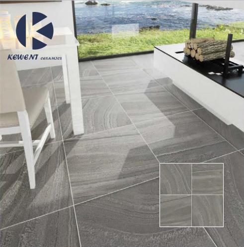 China Light Grey Sand Stone Design Porcelain Floor Tile 60x60