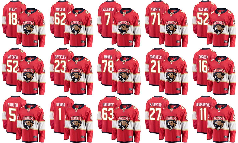 c9d18bc3 China Florida Panthers Fanatics Branded Home Breakaway Red Custom Hockey  Jerseys - China Vincent Trocheck Jerseys, Aleksander Barkov Jerseys