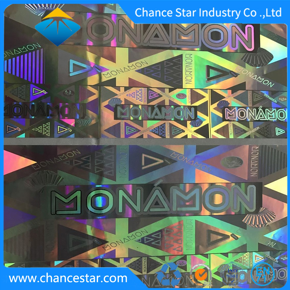 Custom big size security authenticity 3d hologram sticker