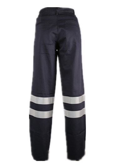En11611 and En11612 Flame Retardant Mens Navy Refelctive Safety Work Cargo Pants