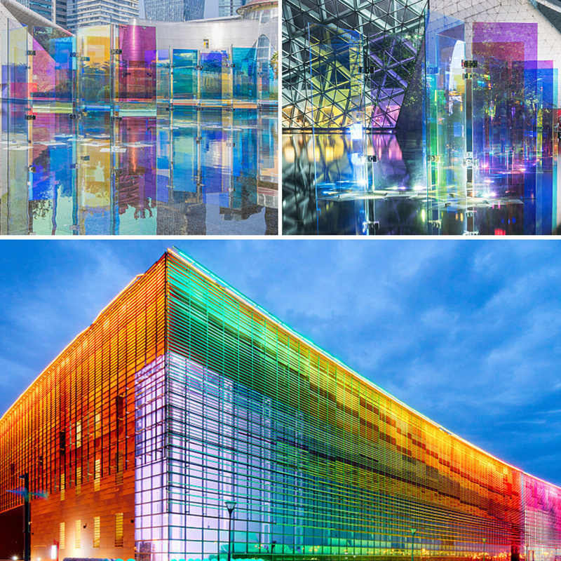 Festival Decoration Window Glass Film Dichroic Rainbow Glass Tint Sticker Decal