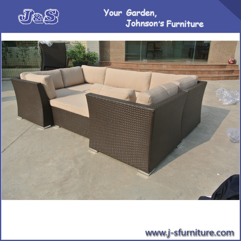 China Outdoor Patio Furniture Wicker Sectional Sofa Seating Set