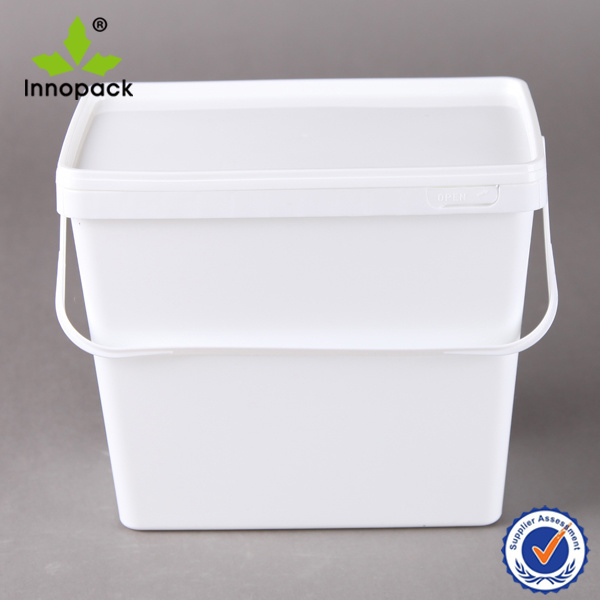 3.7L Rectangular Plastic Container and Square Bucket for Washing Powder or Biscuit