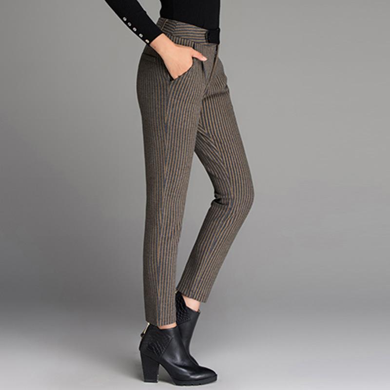 dbb3321e5fbb2 China Manufacture Slim Fit Fashion Stripe Wool Dress Pants - China Pants  Women Ladies, Design Ladies Pants