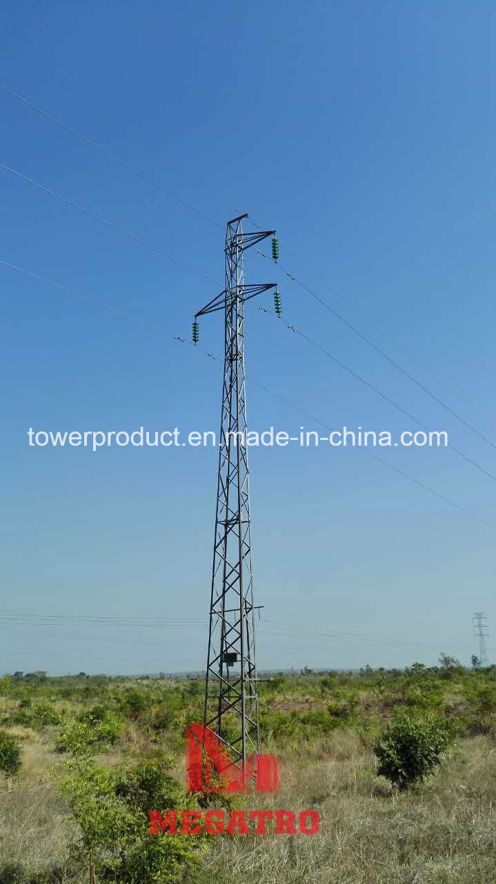 [Hot Item] 66kv Single Circuit Two Earth Wire 0-30 Self Supporting Lattice Steel Tower