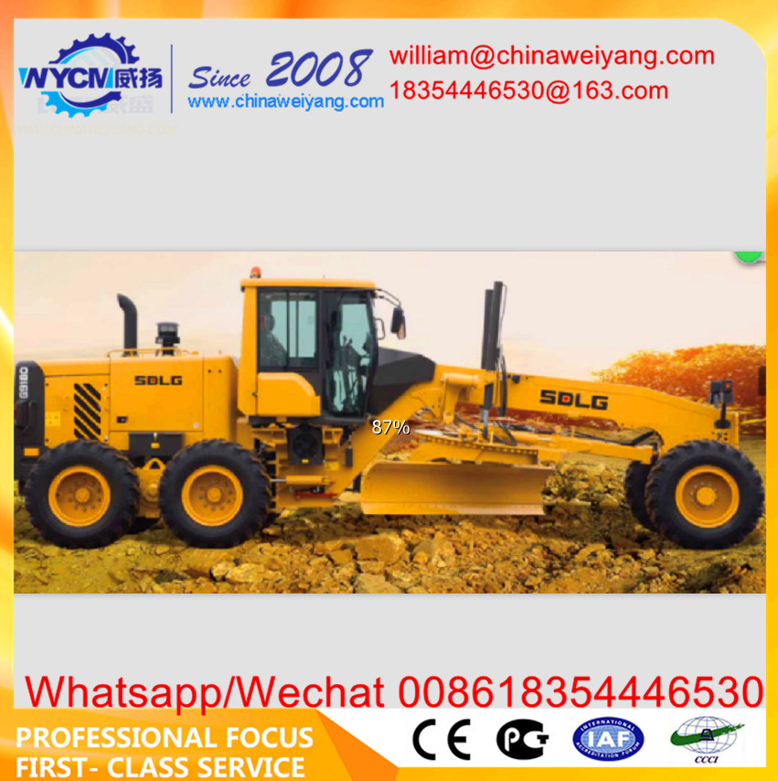 China Hot Sale Sdlg G9180 Motor Grader with Dozer Blade and