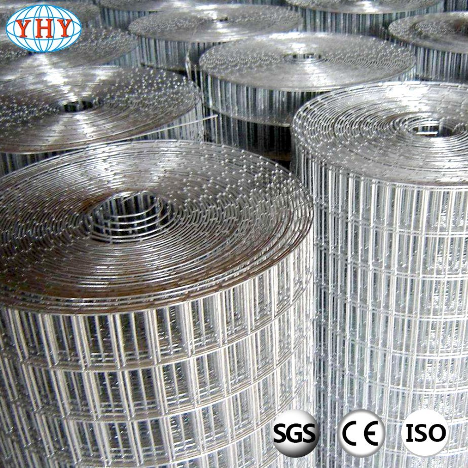 China 1/2′′ Hot Dipped Galvanized Welded Mesh Rolls Used for Garden ...