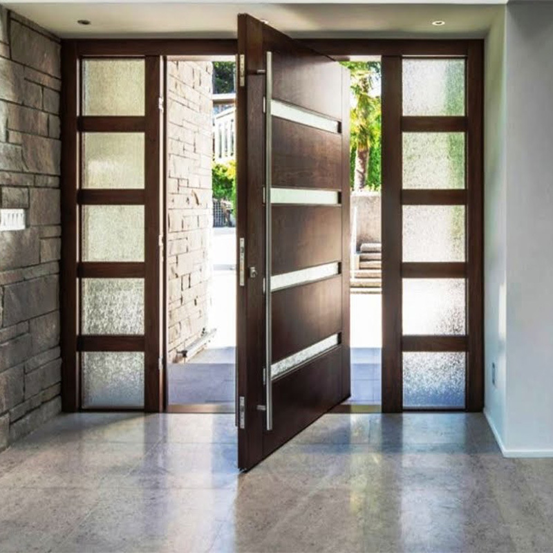 China Us Villa Main Entry Door Modern Design Pivot Wood ... on Modern Entrance Design  id=91802