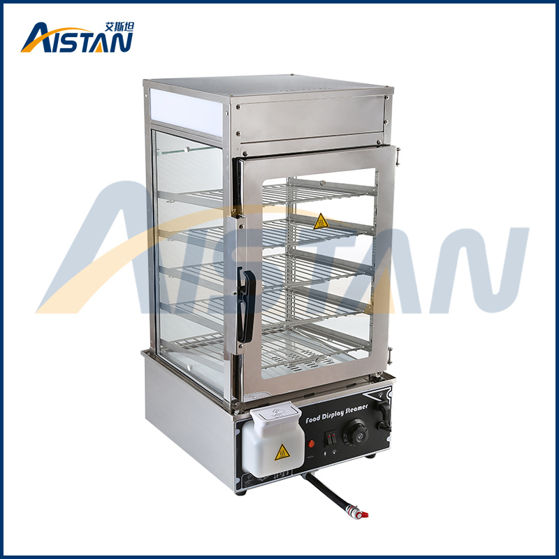 500L 5 Deck Electric Glass Commerical Chinese Bun Steamer of ...