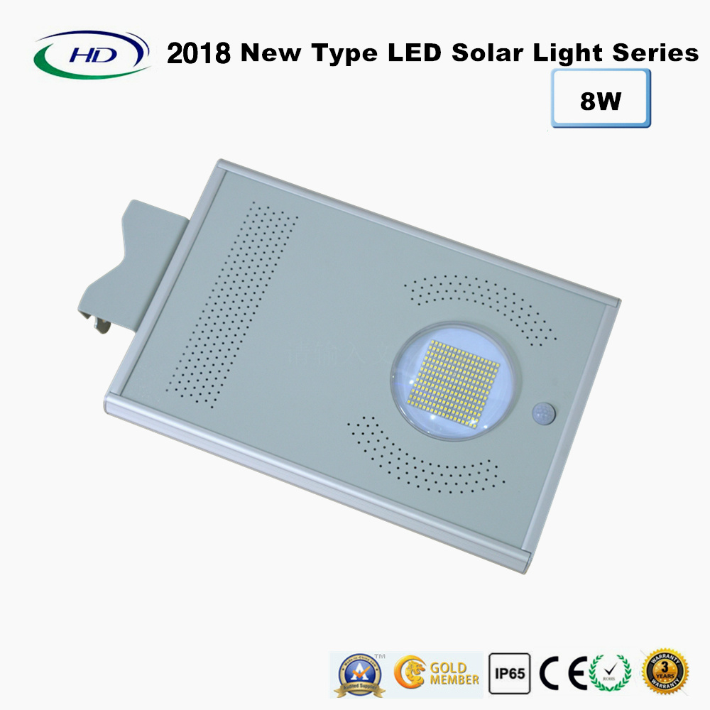 2018 New Type All-in-One Solar LED Garden Light 8W pictures & photos