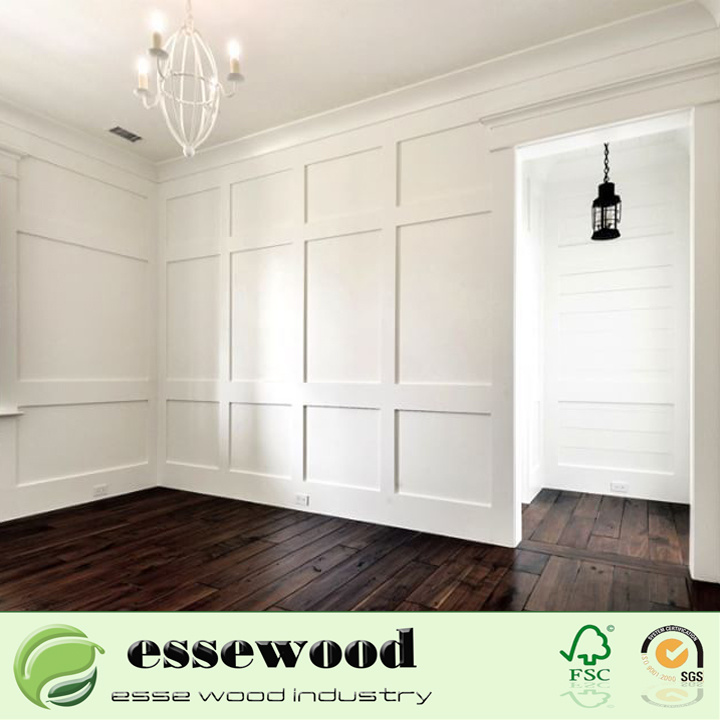 Primed Decorative Wholesale Wood Trim Wall Panel Chair Rail Moulding