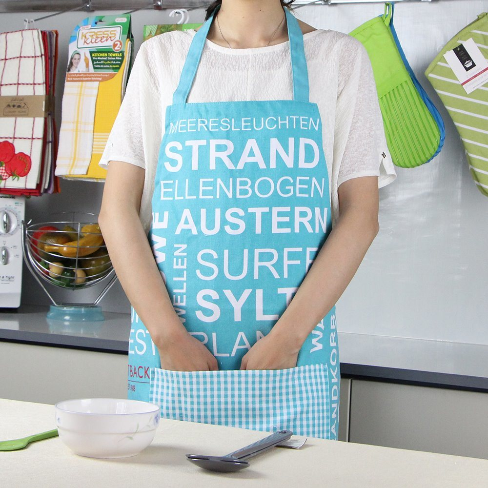 China Promotional Eco-Friendly Simple Cotton Kitchen Apron for Women ...