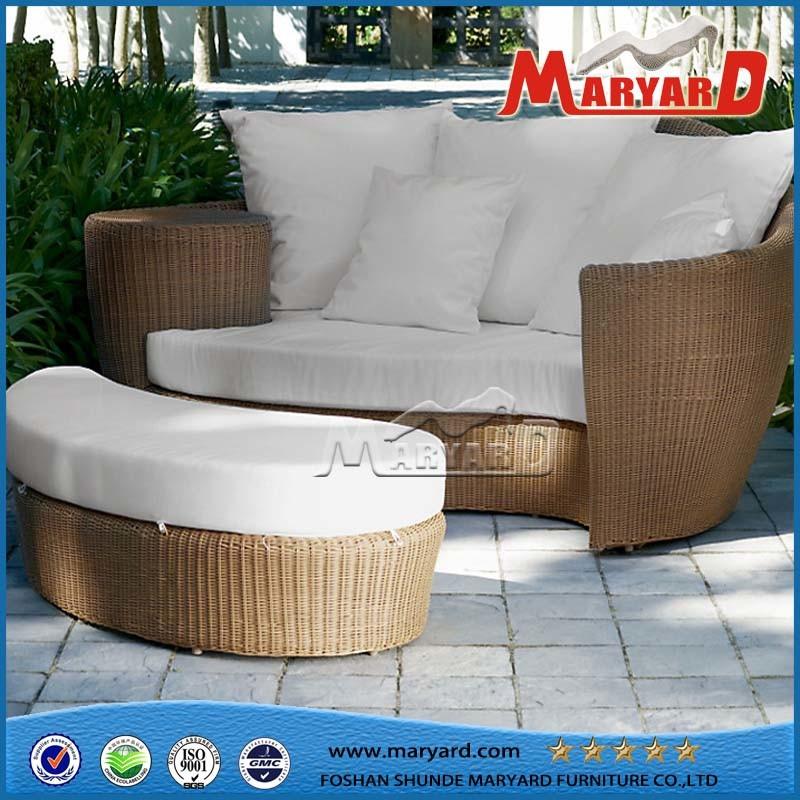 Rattan Sofa Bed Outdoor Wicker