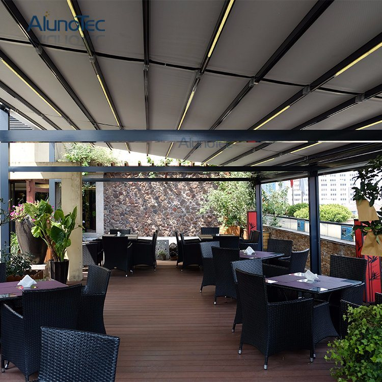 China Awnings Patio Roof Pergola Covers With Led Strip