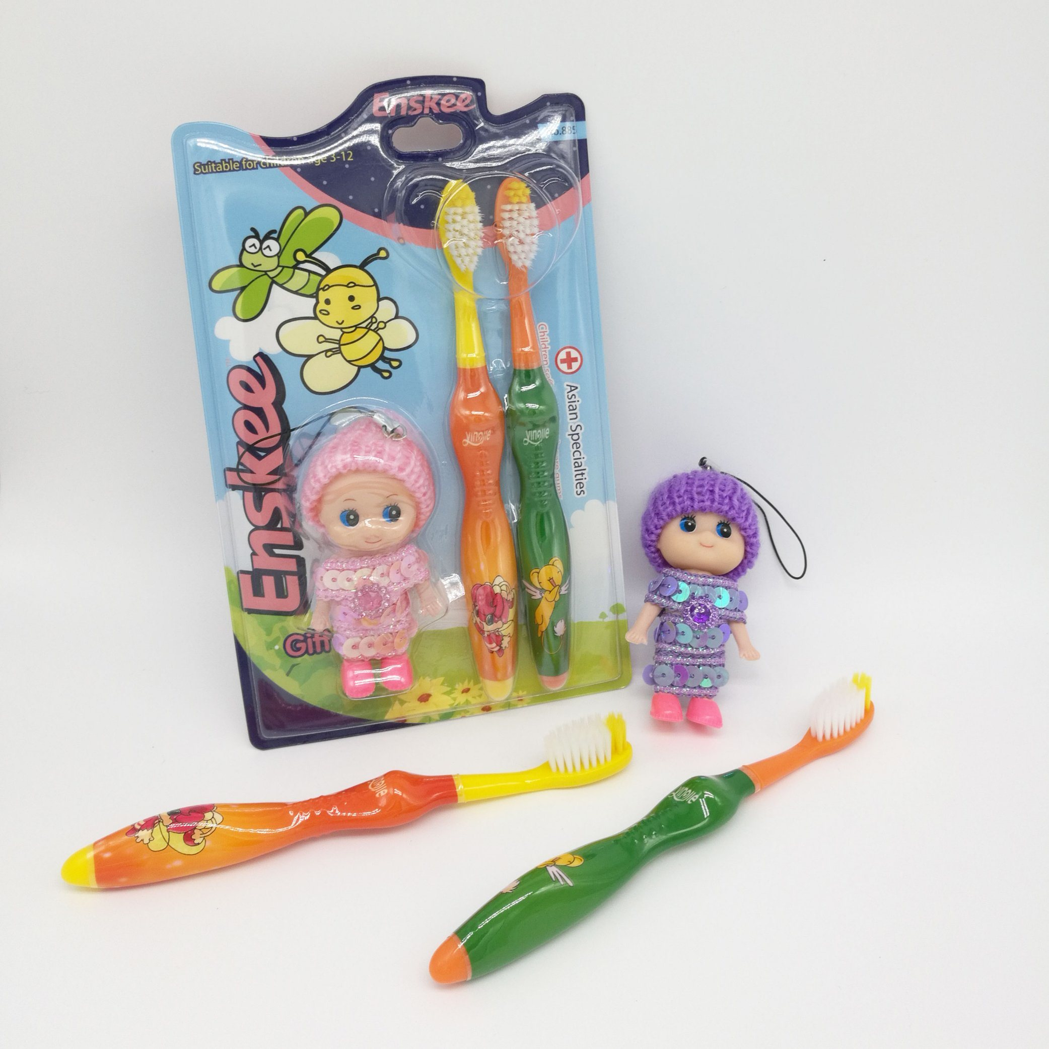 Kid/Child/Children Toothbrush with Slender & Soft Bristles 2 in 1, Gift Included The Pack 885 pictures & photos