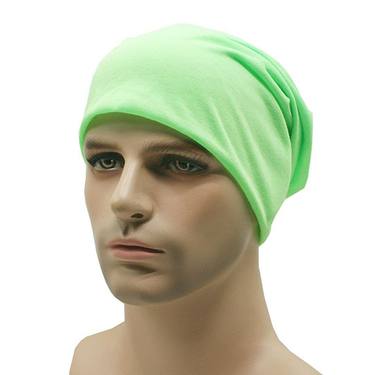 2be08f53bbb Slouchy Beanie Cotton Jersey Double Layer Thermal Helmet Cycling Ski  Outdoor Skull Cap