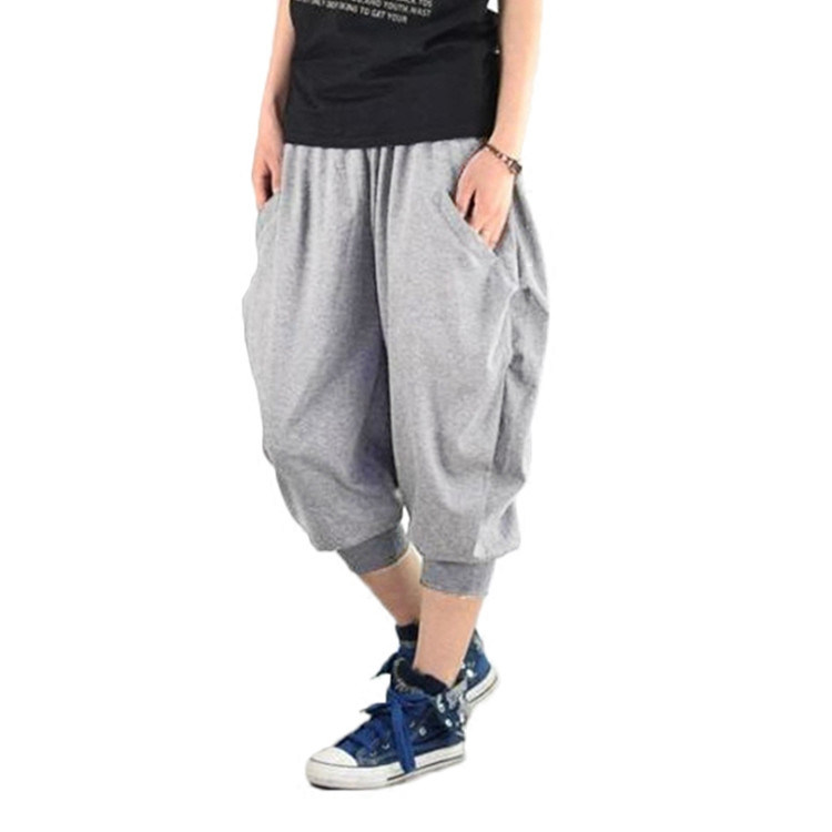 adefaab5513fcd Wholesale Streetwear Mens Women Unisex Fashionable Customizable Baggy  Jogger Trousers Cropped Blank Drop Crotch Harem Pants