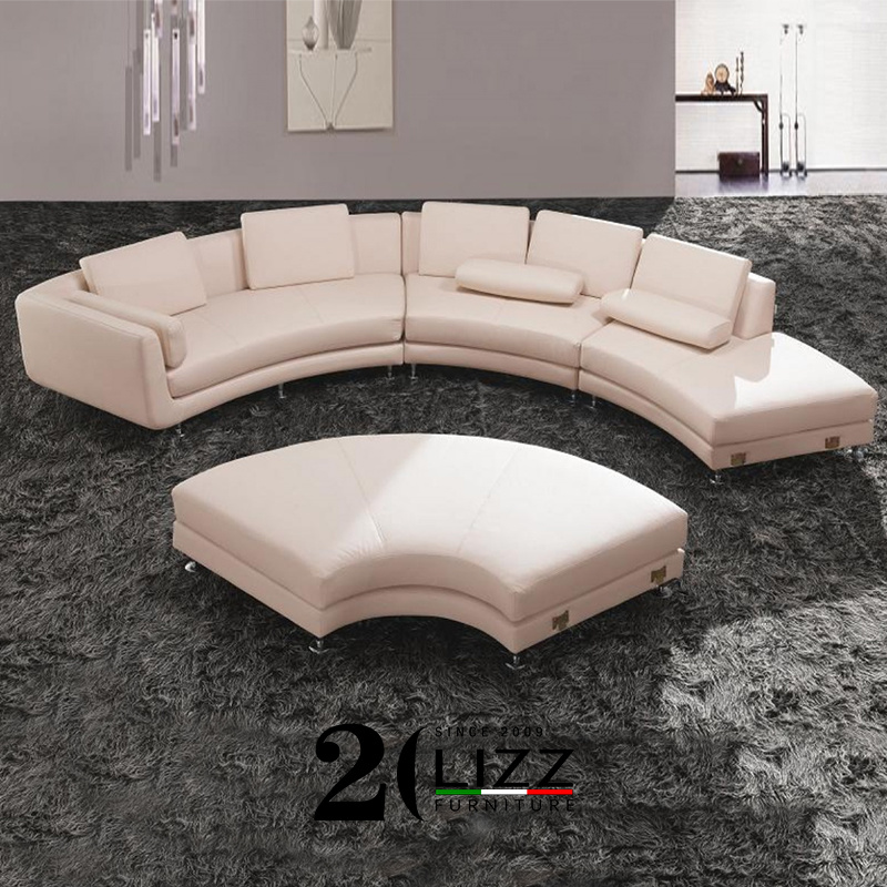 China Modern Semi Circle New Type Couch, Round Sectional Leather Sofa