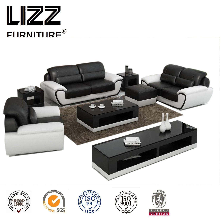 Coffee Table Leather Sofa Set Lz1688
