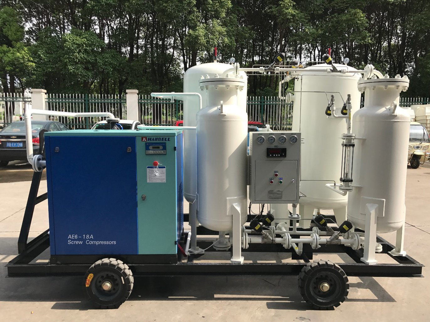 [Hot Item] Portable Nitrogen Generator 20nm3/H 99 99% Button Start Easy  Operating