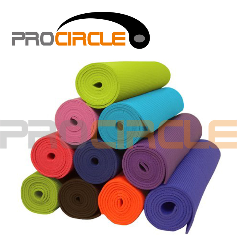 Hot Sell Colorful Yoga Accessories PVC Yoga Mat (PC-YM4001-4002)