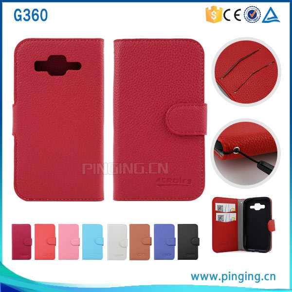 check out 5102f e2f07 [Hot Item] Wallet Leather Flip Cover Case for Samsung Galaxy Core Prime G360