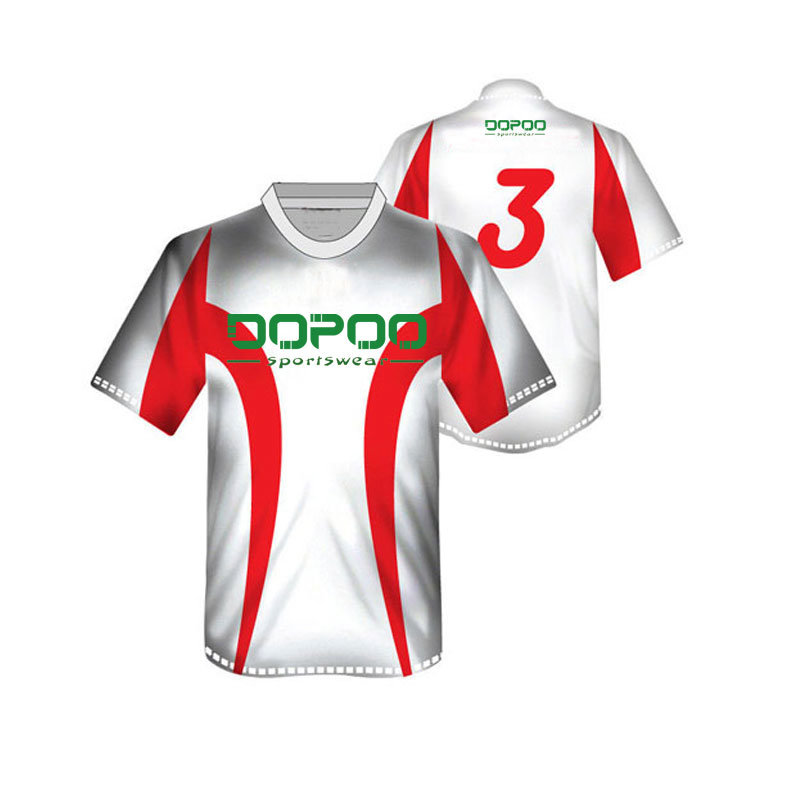 White Color Soccer Jersey Uniform with Low MOQ