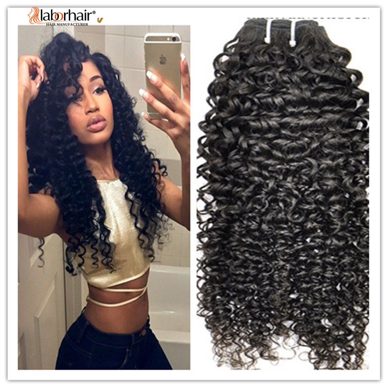 100% Natural Kinky Curly Virgin Brazilian Human Hair Extension Lbh 117 pictures & photos