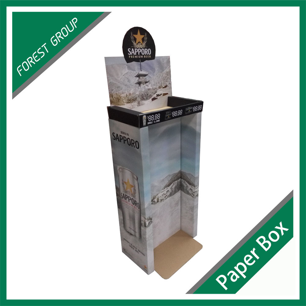 Custom Corrugated Display Rack Box for Beer pictures & photos