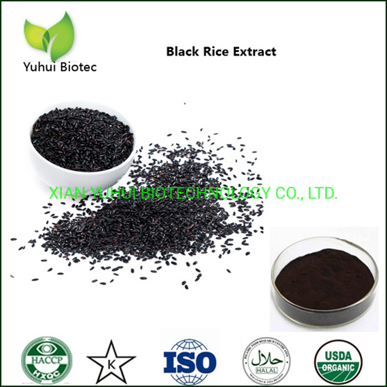 Water Solule Anthocyanidins Black Rice Extract Powder pictures & photos