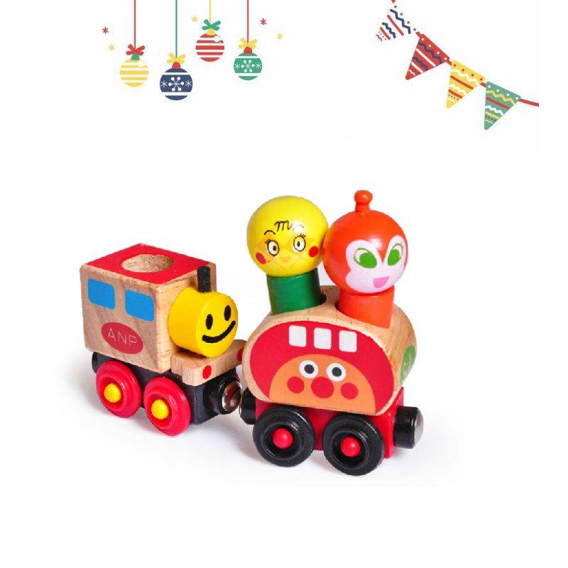 Children Wooden Christmas Gift Thomas Train Car Blocks Educational Toys