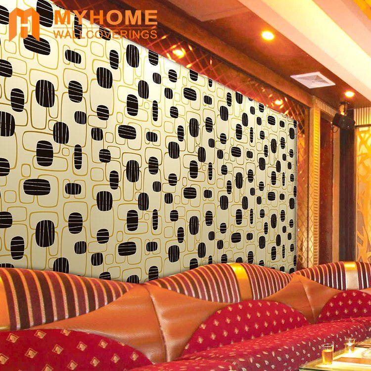 China Wallpaper Factory Golden Metallic Foil Wall Paper for Interior ...