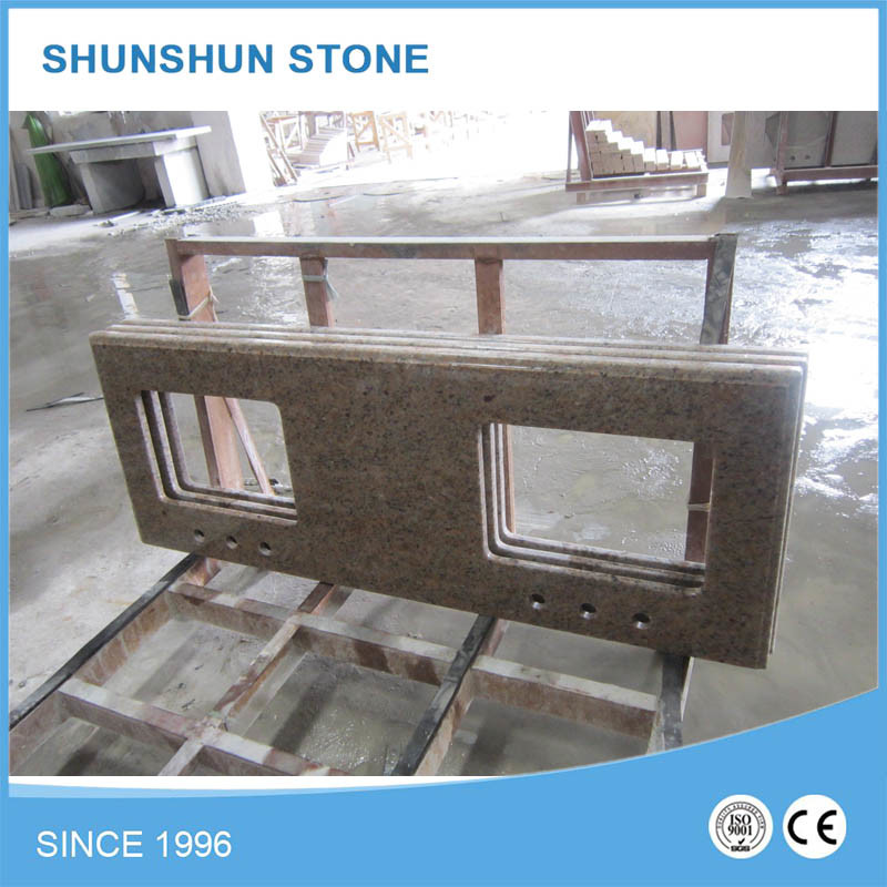 China Stone Brown Grantie Countertop for Kitchen pictures & photos