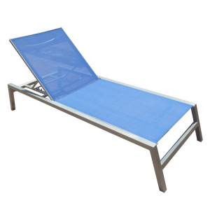 New Style Gray High Degree Light Fastness Plastic Wood Beach Swimming Pool Deck Chair