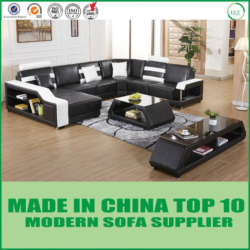 [Hot Item] Modern Home Living Room Furniture Leather Sectional Sofa Lounges