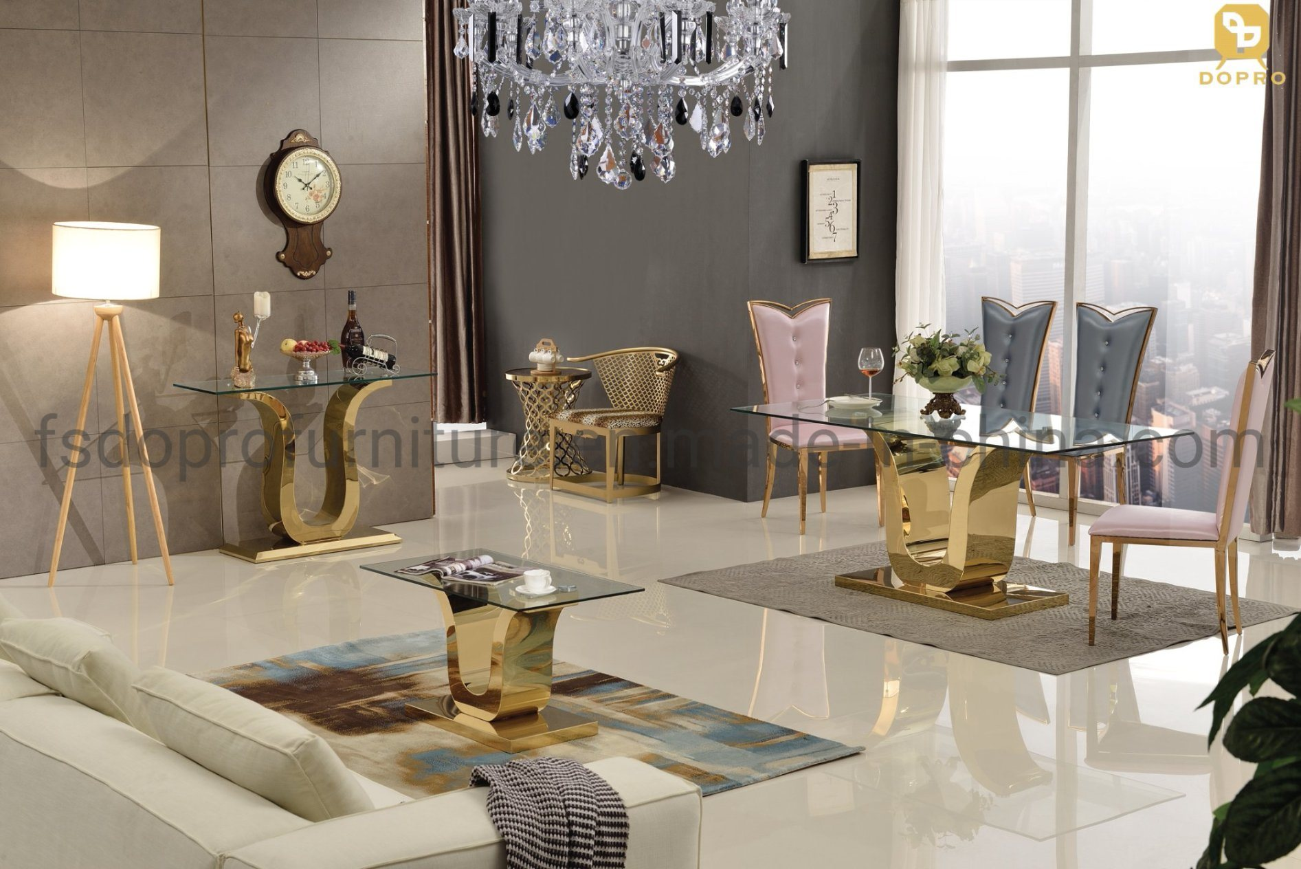 China Whole Home, Gold Dining Room Sets