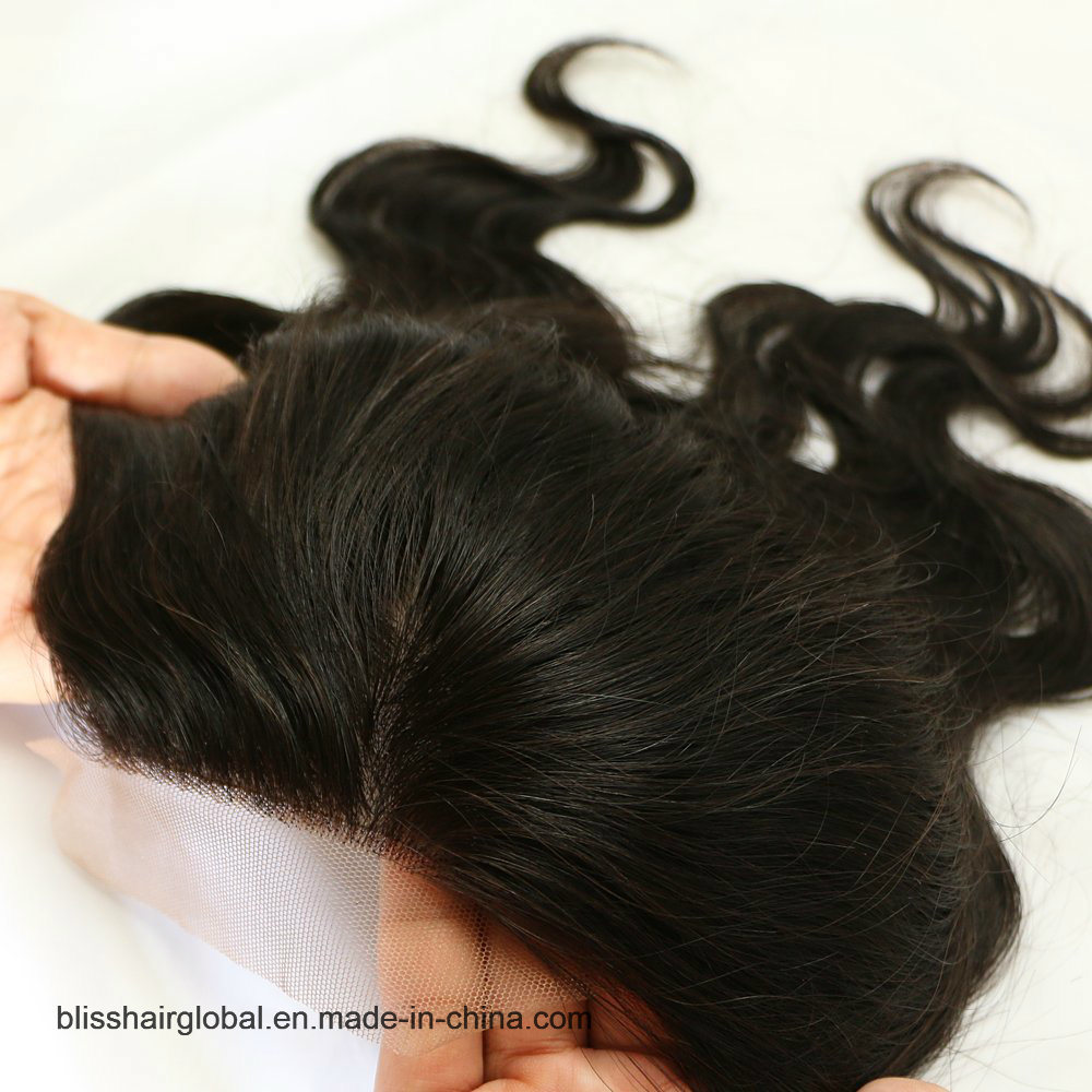 Bliss Hair 4X4 Lace Silk Base Closure Three/Free/Middle Part Top Swiss Silk Base Lace Closure Body Wave Peruvian Virgin Human Hair Closures Pieces pictures & photos