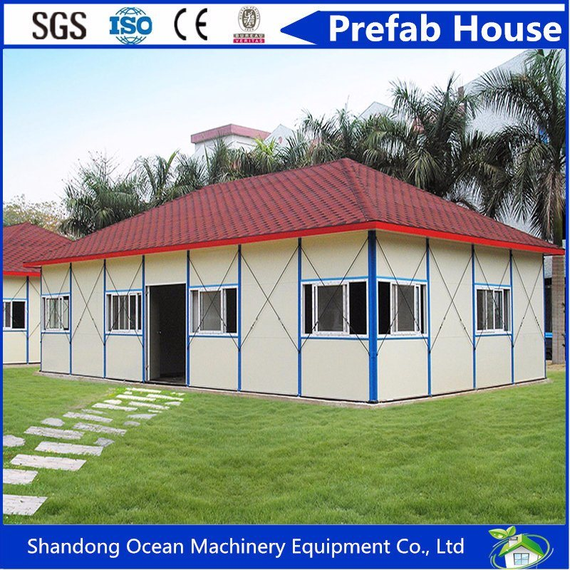Environment Protection Prefabricated Modular House of Steel Structure Nominated by International Red Cross for Disaster Reconstruction