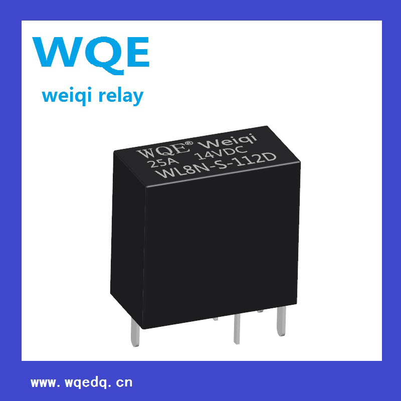 (WL8N) 25A Automotive Relay 14V Black Cover Auto Parts for Automobile