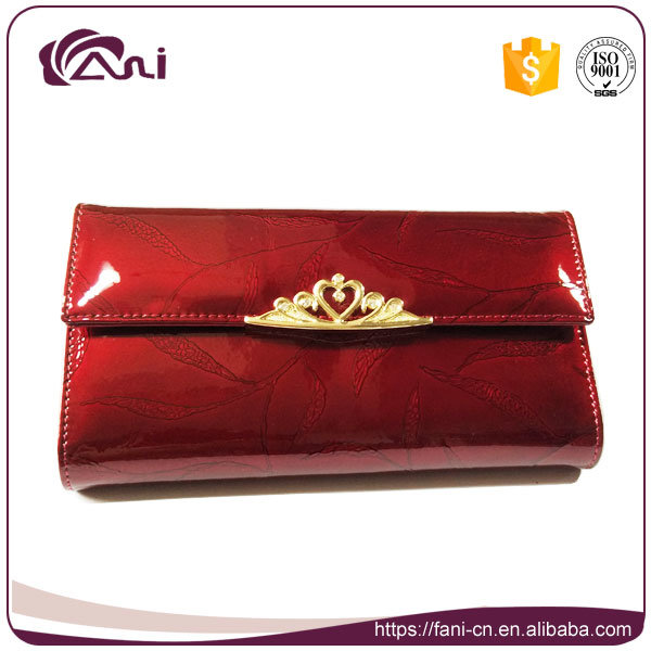 New Long Women Card Wallet Genuine Leather, Wallet with Embossed Leaf