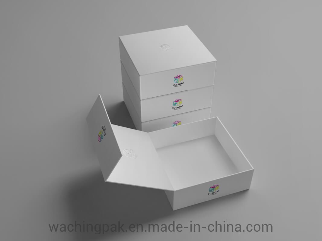 China Custom Hinged Lid Rigid Gift Box Mock Up Free Magnetic Box