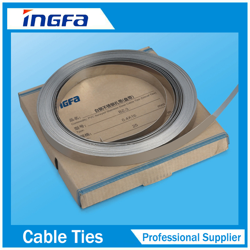 China High Quality Plastic Nylon Cable Tie Stainless Steel