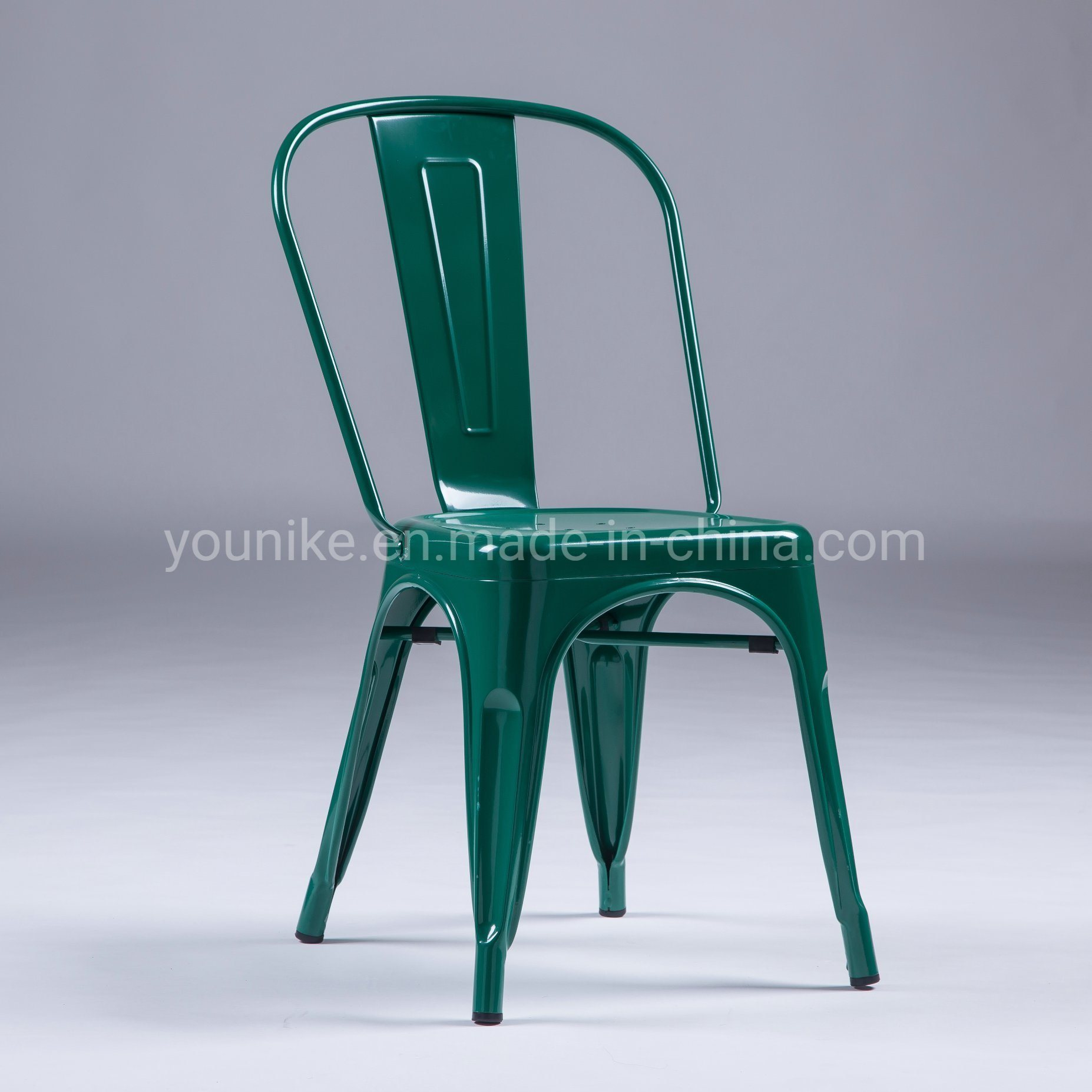 Hot Item Industrial Modern Metal Tolix Dining Chair Stackable Green Series