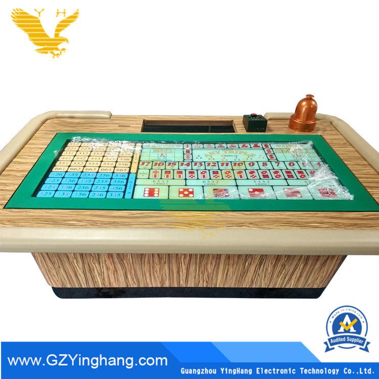 China Casino Standard Sicbo Gambling Table China Poker And Casino Price