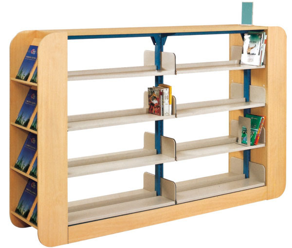 China School Furniture Kids Wood Bookshelf For Library ST 30