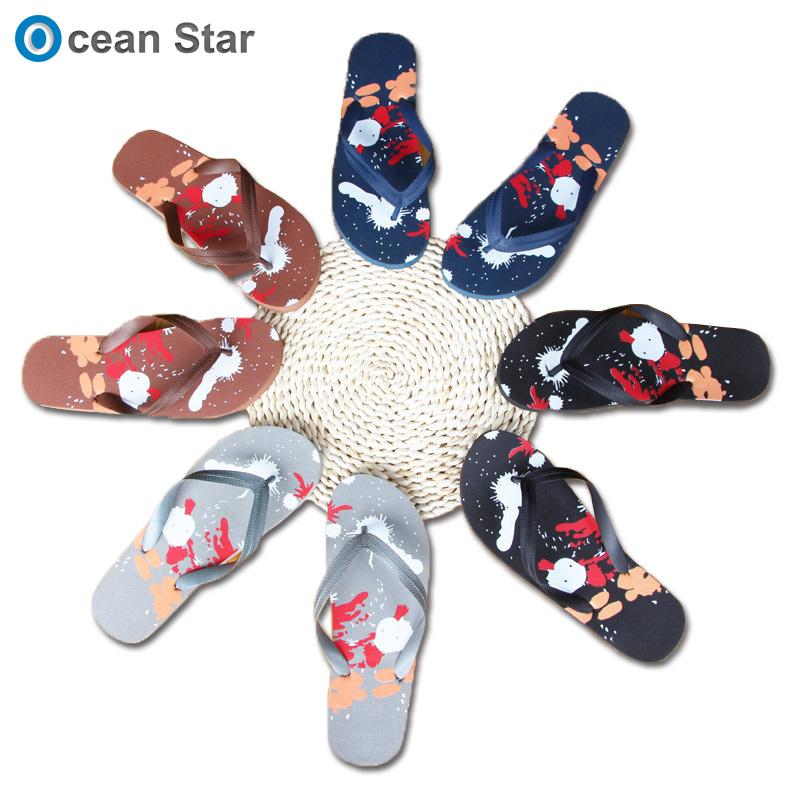 0c0e9b16af1487 Wholesale Customize Logo Cartoon Pattern Mens EVA Rubber Summer Flop Flips  Beach Slippers
